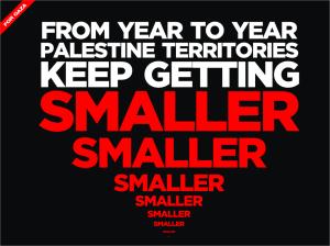 wilayah palestina semakin kecil